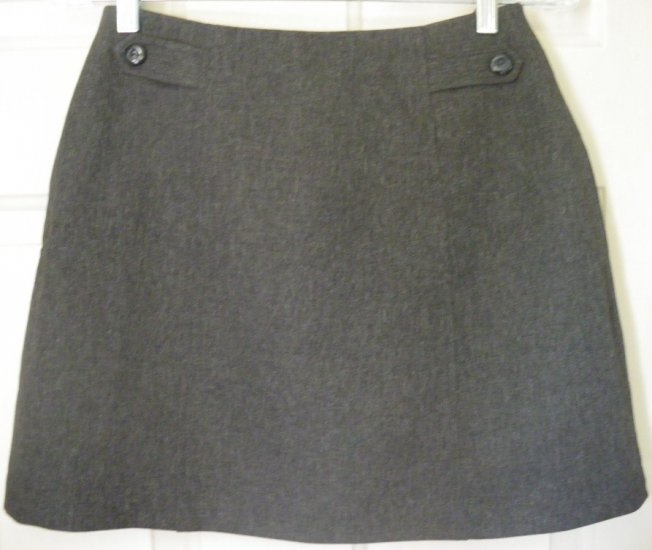 A. BYER Gray Mid-Thigh Skirt size 9