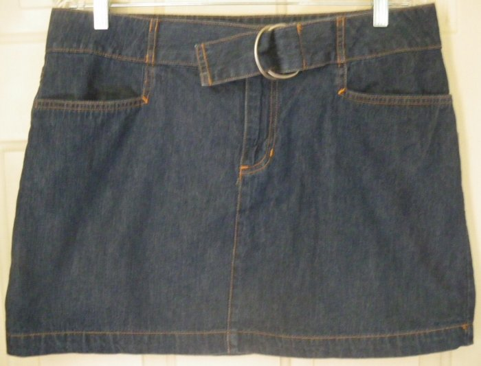 OLD NAVY Blue Mid-Thigh DENIM Skirt size 12