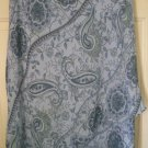 CONNECTED APPAREL Blue Below-Knee TIERED FLORAL PAISLEY Skirt size XL