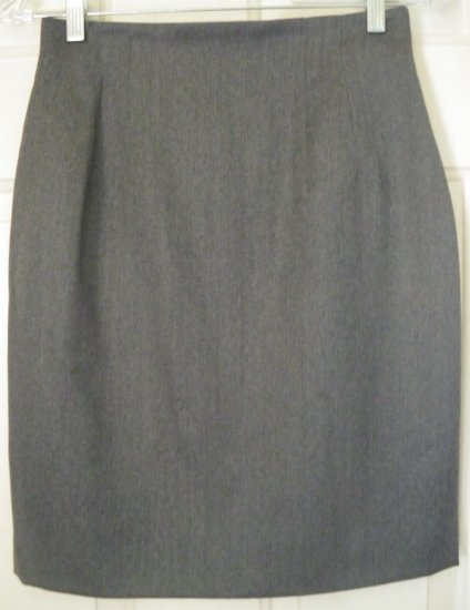 LORD & TAYLOR Gray Knee-Length WOOL Skirt size 6P