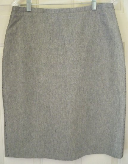 BANANA REPUBLIC Gray Knee-Length SILK/LINEN Pencil Skirt size 10