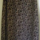 M.J. CARROLL Long Brown FLORAL PRINT Skirt size L