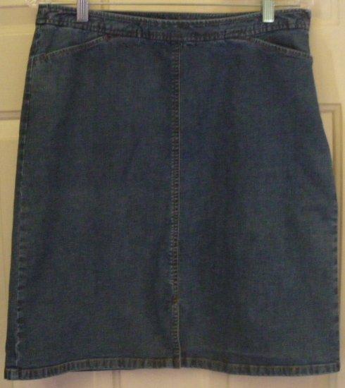 ANN TAYLOR Blue Above-Knee STRETCH DENIM Skirt size 10