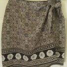 FRAMEWORK Tan Knee-Length FAUX-WRAP Print Skirt size 10P