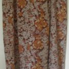 URBAN WORKS Long Brown FAUX-WRAP Print Skirt size L