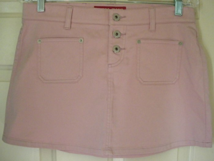 GUESS JEANS Pink STRETCH Mini Skirt size 28