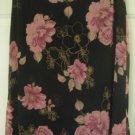 WRAPPER Black Knee-Length FLORAL PRINT Skirt size M