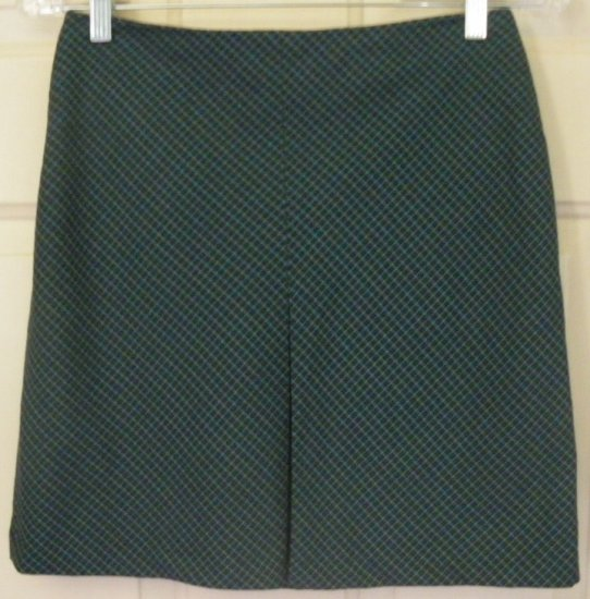 OLD NAVY Teal Mid-Thigh STRETCH PLAID Skirt size 1