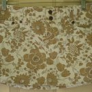 ABERCROMBIE & FITCH White Tan Low-Waist FLORAL PRINT Micromini Skirt size 2