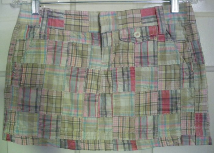 AEROPOSTALE Multi-Color PATCHWORK Mini Skirt size 1/2