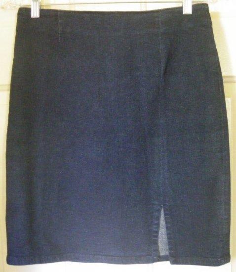 GAP Blue Above-Knee STRETCH DENIM Skirt size 8
