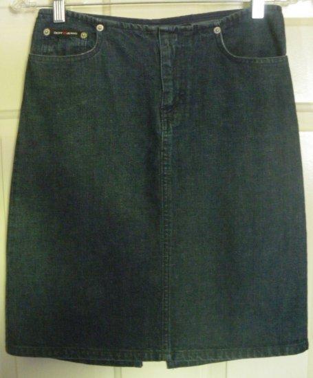 DKNY JEANS Blue Above-Knee DENIM Skirt size 0
