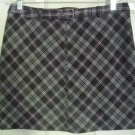 WEATHER VANE Purple Mid-Thigh STRETCH PLAID Skirt size M