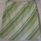 SONOMA Green Above-Knee STRETCH STRIPED Skirt size 8P