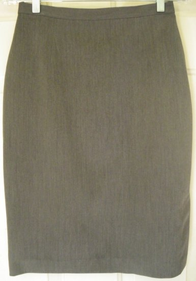 NY & CO. Gray Knee-Length STRETCH Pencil Skirt size 4