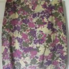 CALVIN KLEIN JEANS Olive Purple Knee-Length FLORAL PRINT DENIM Skirt size 8
