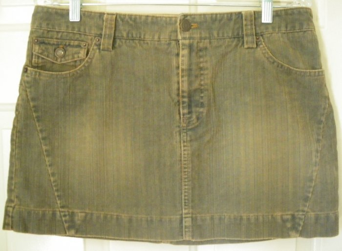AMERICAN EAGLE OUTFITTERS Blue CORDUROY Mini Skirt size 10