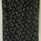MEG LAUREN Long Black FLORAL PRINT Skirt size M
