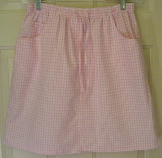 FASHION BUG Pink Above-Knee CHECKERED Skirt size L