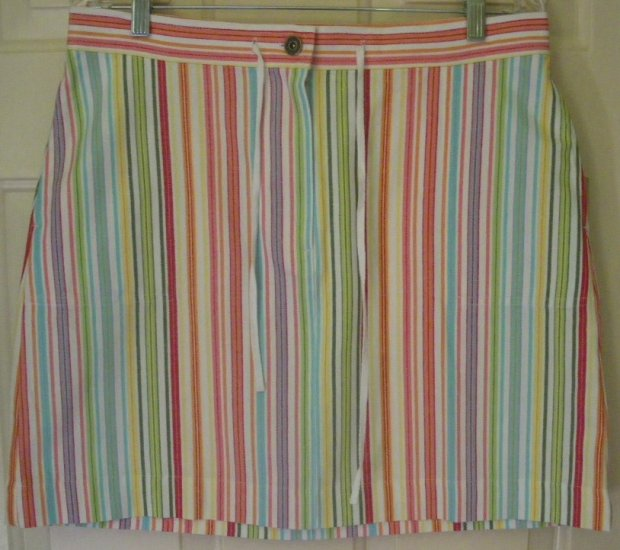 CHRISTOPHER & BANKS Multi-Color Above-Knee STRIPED Skirt size 10