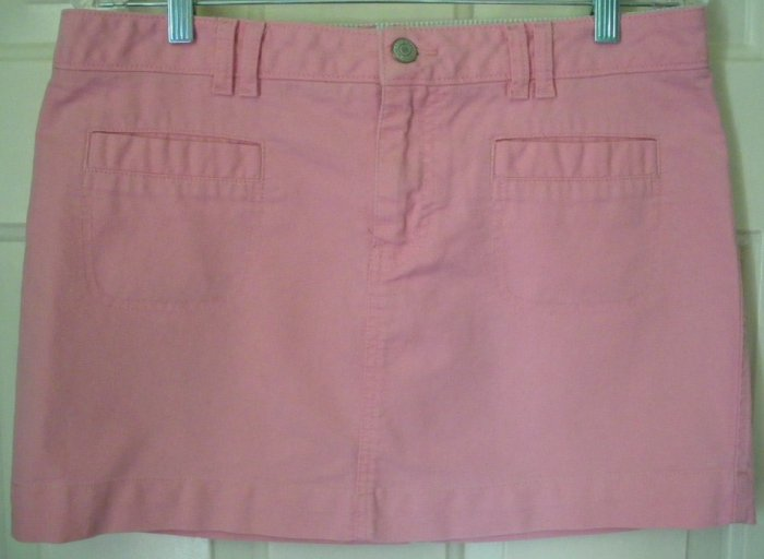 OLD NAVY Pink Ultra Low Waist Mid-Thigh Skirt size 10