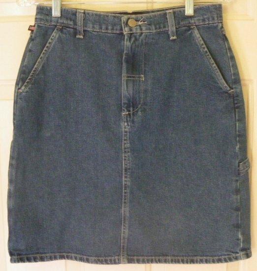 POLO JEANS CO. RALPH LAUREN Blue Above-Knee DENIM Carpenter Skirt size 4