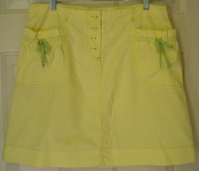 HEI HEI by ANTHROPOLOGIE Yellow Above-Knee Skirt size 8