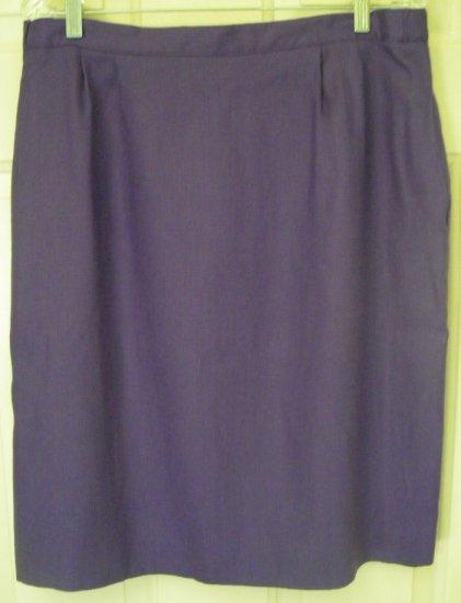 WORTHINGTON Purple Knee-Length Pencil Skirt size 18