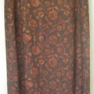 JAZZ SPORT Long Brown FLORAL PRINT Skirt size M