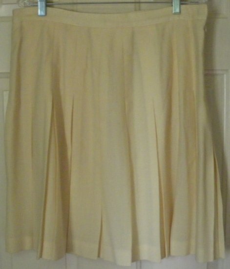 LEYLA MITRA Yellow Knee-Length PLEATED Skirt size 12