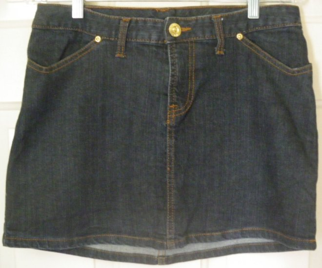 ELEVEN by VENUS WILLIAM Blue Mid-Thigh STRETCH DENIM Skirt size 8