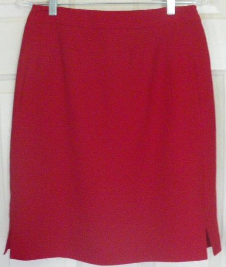 HARVE BENARD Red Knee-Length Pencil Skirt size 8