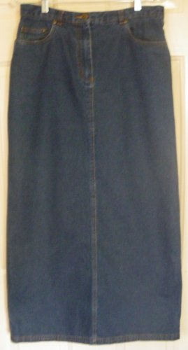 RAFAELLA Long Blue DENIM Pencil Skirt size 10