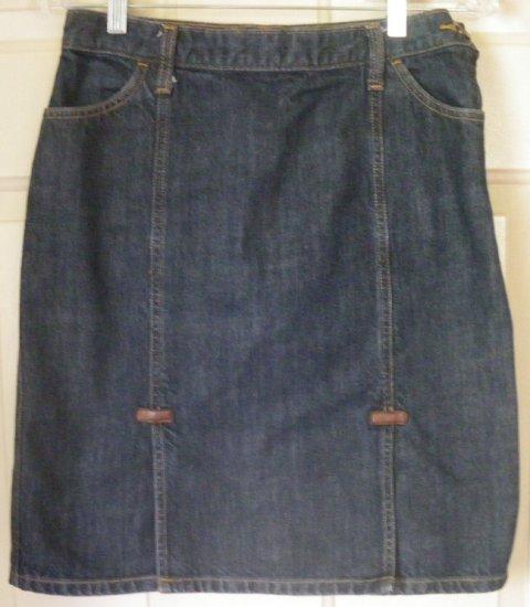 GAP JEANS Blue Knee-Length DENIM Skirt size 1