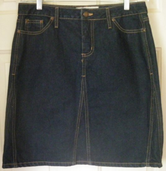 FADED GLORY Blue Above-Knee DENIM Skirt size 8
