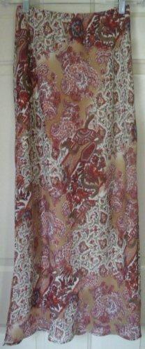 IZ BYER CALIFORNIA Long Tan PRINT Skirt size S