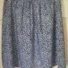 VINTAGE STUDIO Navy Blue Above-Knee FLORAL PRINT Skirt size L