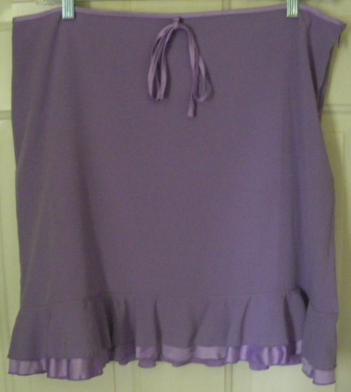 DAISY FUENTES Lavender Above-Knee Low-Waist TIERED Skirt size 14