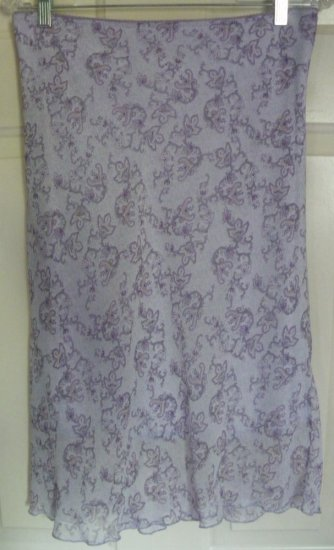 WEATHERVANE Lavender Below-Knee PRINT Skirt size L
