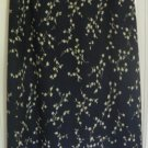 CASUAL CORNER ANNEX Long Navy FLORAL PRINT Skirt size 8P