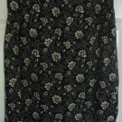 OLD NAVY Black Knee-Length PRINT Skirt size 8