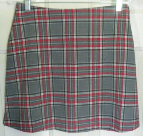 35th & 10th Gray Mid-Thigh STRETCH PLAID Skirt size 9