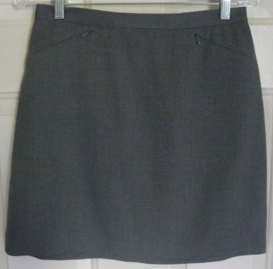 THE LIMITED Gray Above-Knee STRETCH PLAID Skirt size 4