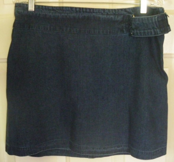 NY JEANS by NEW YORK & CO. Blue Above-Knee DENIM Skirt size 12