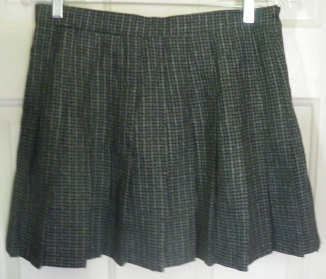 JOULE Gray Mid-Thigh PLEATED PLAID Skirt size 11