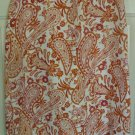 WILLI SMITH Orange Knee-Length LINEN Print Skirt size 4