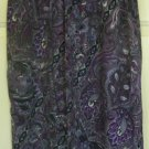XHILARATION Purple Knee-Length PRINT Skirt size S