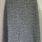 CASUAL CORNER Gray Knee-Length PRINT A-Line Skirt size 4