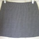 TEMPTED Black & White STRETCH PLAID Mini Skirt size 3
