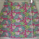 LILLY PULITZER Pink Mid-Thigh TROPICAL CABANA Skirt size 8